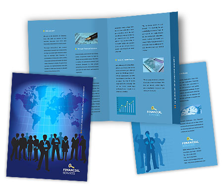 Complete Brochure  View with Layout For Business Finance