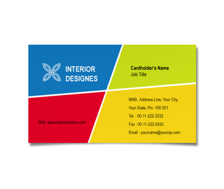 Complete Business Card  View with Layout For Interior Architecture