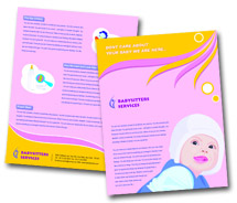Social & Cultural Baby Care brochure-templates