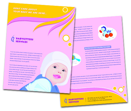 Complete Brochure  View with Layout For Baby Care