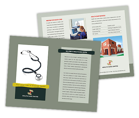Complete Brochure  View with Layout For Medical Clinic