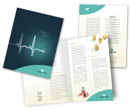 Complete Brochure  View with Layout For Heart Hospital