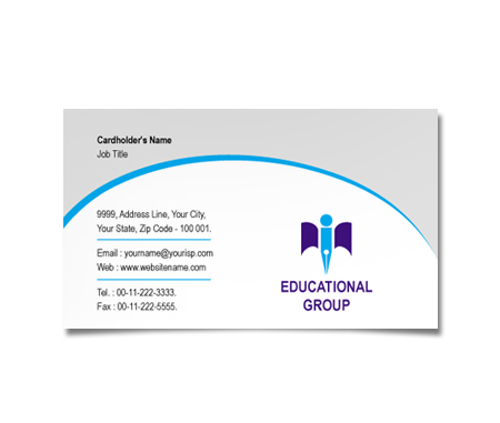 Complete Business Card  View with Layout For Educational Research