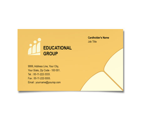 Complete Business Card  View with Layout For Educational Activities