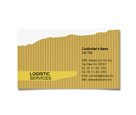 Complete Business Card  View with Layout For Logistics Solutions