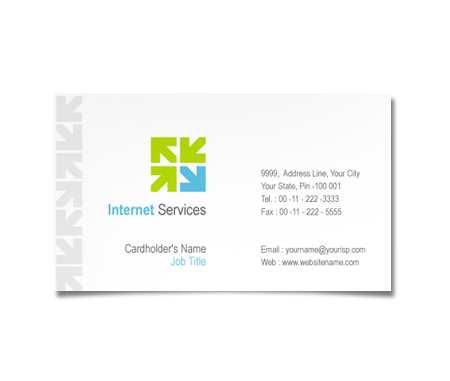 Complete Business Card  View with Layout For Local Internet Services