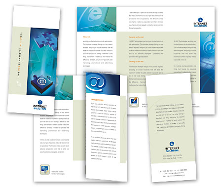 Complete Brochure  View with Layout For Internet Access Service