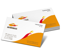 Business Card Templates automobile showroom