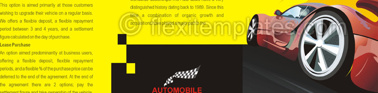 Actual Brochure  Design For Sports Cars