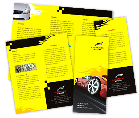 Complete Brochure  View with Layout For Sports Cars