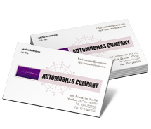 Business Card Templates automobile engines