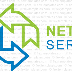 Complete Logo  View with Layout For Network Solution