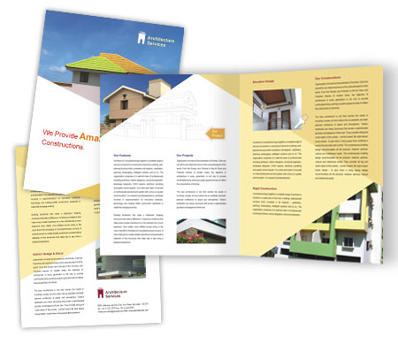 Complete Brochure  View with Layout For Architecture