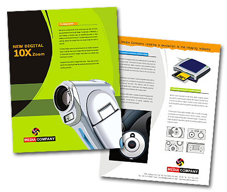 Complete Brochure  View with Layout For Camera Supplies