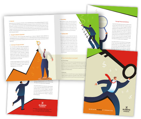 Complete Brochure  View with Layout For Business Solutions