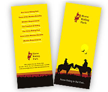 Brochure Templates horseback riding