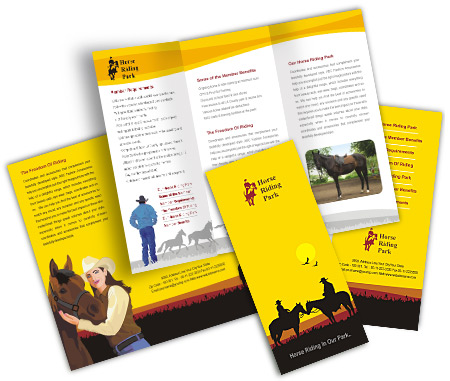 Complete Brochure  View with Layout For Horseback Riding