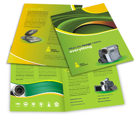 Complete Brochure  View with Layout For Digital Camera