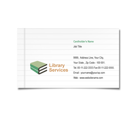 Complete Business Card  View with Layout For Educational Library Services