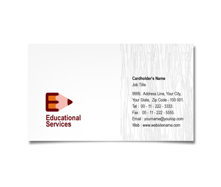 Complete Business Card  View with Layout For Educational Supplies