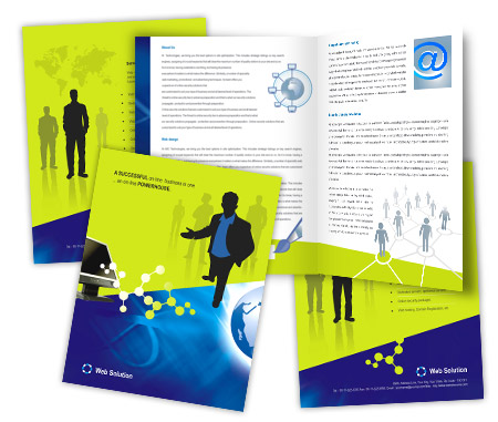 Complete Brochure  View with Layout For Web Solutions