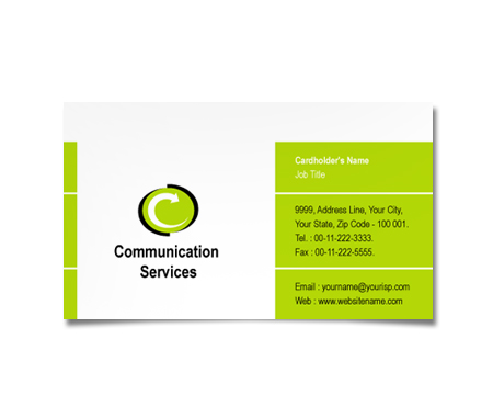 Complete Business Card  View with Layout For Communication Systems