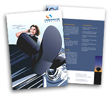 Communications Mobile Communication Service brochure-templates