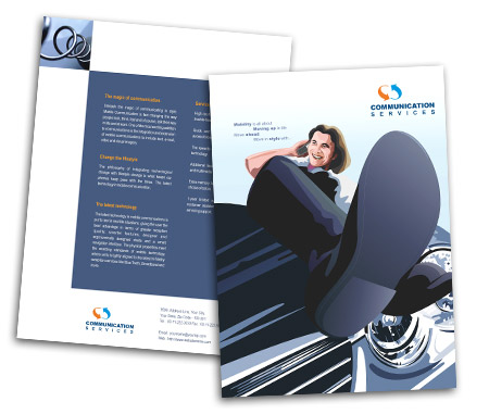Complete Brochure  View with Layout For Mobile Communication Service