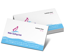 Business Card Templates water surfing club