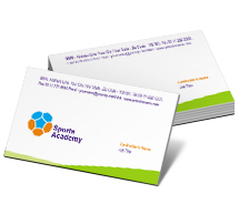 Business Card Templates sports academy