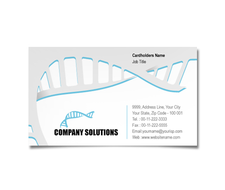 Complete Business Card  View with Layout For Research Medical