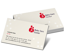Social & Cultural Baby Care Center business-card-templates