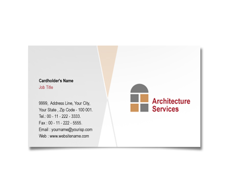 Complete Business Card  View with Layout For Residential Architecture