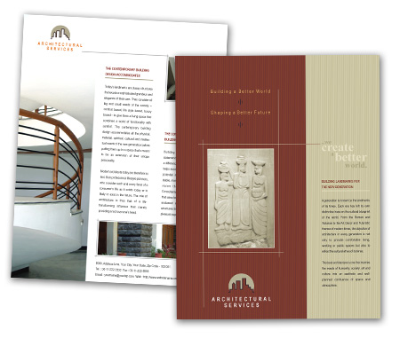 Complete Brochure  View with Layout For Architectural Design Service