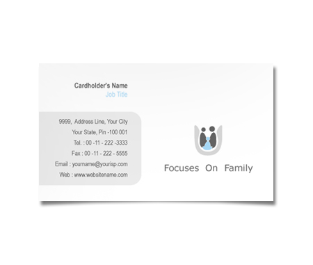 Complete Business Card  View with Layout For Family Care