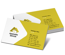 Business Card Templates automobile truck