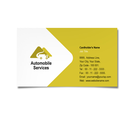 Complete Business Card  View with Layout For Automobile Truck