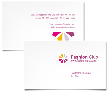 Complete Business Card  View with Layout For Fashion Business Club