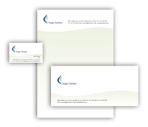 Corporate Identity Templates yoga centre