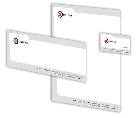Complete Corporate Identity  View with Layout For Dart Club