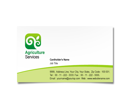 Complete Business Card  View with Layout For Local Agriculture