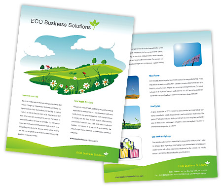 Complete Brochure  View with Layout For Eco Friendly Products