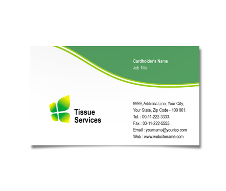 Complete Business Card  View with Layout For Tissue Culture