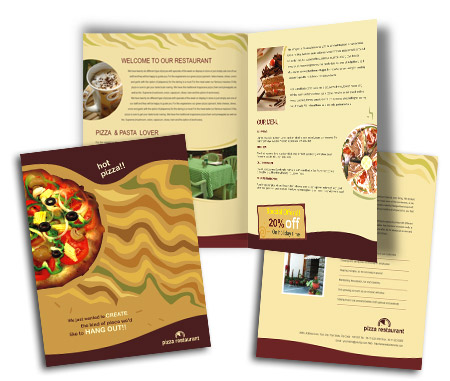 Complete Brochure  View with Layout For Fast Food Restaurant