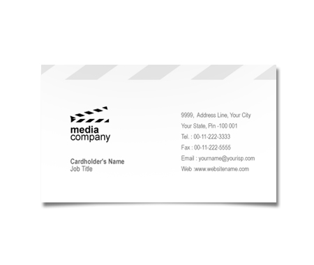 Complete Business Card  View with Layout For Film And Media