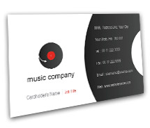 Media Music Videos BusinessCardTemplates