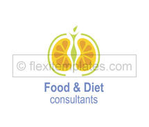 Logo Templates health fitness diet