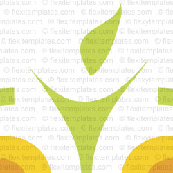 Complete Logo  View with Layout For Health Fitness Diet