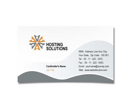 Complete Business Card  View with Layout For Hosting Business Solutions