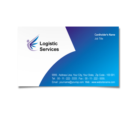 Complete Business Card  View with Layout For Logistic Operations